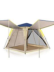 رخيصةأون -KEUMER 4 شخص خيمة التخييم العائلية في الهواء الطلق ضد الهواء مكتشف الأمطار يمكن ارتداؤها طبقة واحدة قطب الماسورة خيمة التخييم 1500-2000 mm إلى Camping / Hiking / Caving تنزه