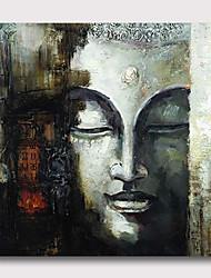 billige -håndmalt strukket oljemaleri lerret klar til å henge abstrakt stil materiale høy kvantitet asiatisk buddha sølv