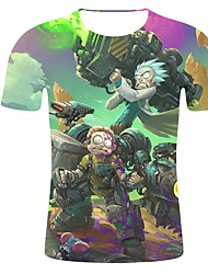 abordables -Hombre Camiseta Caricatura Arco Iris XXL