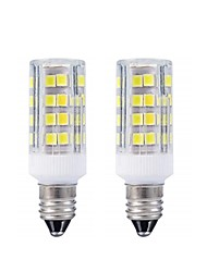 hesapli -2 adet e11 led ampul sıcak beyaz 3000 k / beyaz 6000 k ampuller 3 w 20 w 40 w halojen lamba eşdeğer mini şamdan tabanı ac110 / 220 v omni-yönlü tavan fanı aydınlatma için 360 derece aydınlatma