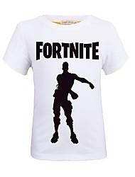お買い得  -子供 男の子 ストリートファッション プリント プリント 半袖 ポリエステル Tシャツ パープル