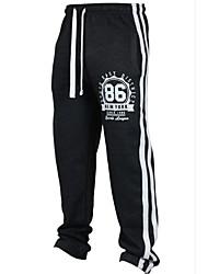 abordables -Hombre Chic de Calle Chinos Pantalones - A Rayas Negro