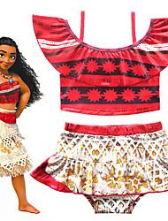 ราคาถูก -ชุดว่ายน้ำ ชุดว่ายน้ำชุดคอสเพลย์ สาวบี สำหรับเด็ก คอสเพลย์และคอสตูม คอสเพลย์ วันฮาโลวีน ทับทิม Printing Polyster เด็กผู้หญิง วันคริสต์มาส วันฮาโลวีน เทศกาลคานาวาล / Top / ความยืดหยุ่นสูง