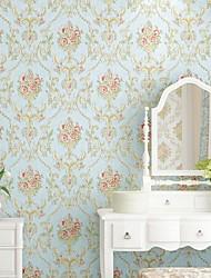 رخيصةأون -ورق الجدران محبوكة تغليف الجدران - لاصق ذاتي الأزهار / النباتية