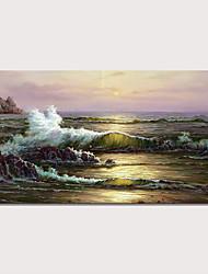 Недорогие -С картинкой Отпечатки на холсте - Пляж Пейзаж Современный Modern Репродукции