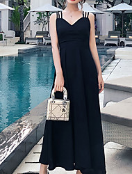 763a25db40 abordables Vestidos de Talla Grande-Mujer Corte Swing Vestido Midi Con  Tirantes