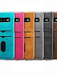 halpa -Etui Käyttötarkoitus Samsung Galaxy S9 Plus / S8 Plus Korttikotelo / Iskunkestävä / Tuella Takakuori Yhtenäinen Kova PU-nahka varten S9 / S9 Plus / S8 Plus