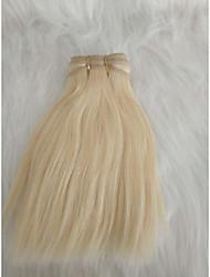 halpa -Letitetty Suora Pidentäjä Aidot hiukset 3 osainen punokset Vaaleahiuksisuus 8 inch 8 tuumaa Party Deitti / Loma Perulainen