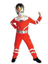 preiswerte -Superheld Cosplay Kostüme Kinder Jungen Cosplay Halloween Halloween Karneval Maskerade Fest / Feiertage Polyester Rote Karneval Kostüme Print