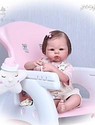 Недорогие -NPKCOLLECTION Куклы реборн Девочки 22 дюймовый Силикон - Подарок Ручная работа Искусственная имплантация Коричневые глаза Детские Универсальные Игрушки Подарок
