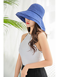 cheap -Women's / Unisex Party / Active / Cute Floppy Hat / Sun Hat - Solid Colored