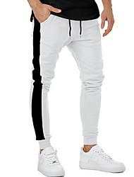 abordables -Hombre Básico Pantalones de Deporte Pantalones - A Rayas Blanco