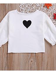 povoljno -Dijete Djevojčice Osnovni Print Dugih rukava Poliester Bluza Crn