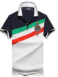 cheap -Men's T-shirt - Solid Colored White L