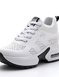 رخيصةأون -نسائي شبكة الربيع / الصيف كاجوال / شيك أحذية رياضية كعب خفي أمام الحذاء على شكل دائري أبيض / أسود