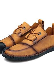 رخيصةأون -رجالي أحذية الراحة مجهرية الربيع أوكسفورد أسود / أصفر / كاكي