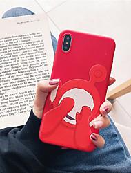 Недорогие -чехол для яблока iphone xr / iphone xs max pattern / матовая задняя крышка мультяшный мягкий тпу для iphone x / xs / 6/6 plus / 6s / 6s plus / 7/7 plus / 8/8 plus