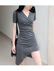 voordelige -damesshirt, knielange dames, zwart grijs one-size