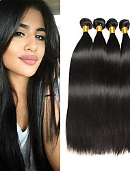 voordelige -4 bundels Braziliaans haar Recht Onbehandeld haar Menselijk haar weeft Verlenging Bundle Hair 8-28inch Natuurlijke Kleur Menselijk haar weeft Cosplay Zacht Dansen Extensions van echt haar Dames