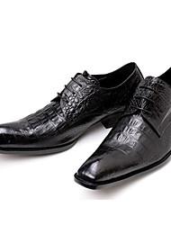 levne -Pánské Společenské boty Nappa Leather Jaro Klasické / Na běžné nošení Oxfordské Neklouzavá Černá / Hnědá / Party