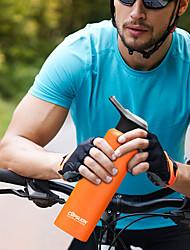 Недорогие -Бутылки для воды 750 ml Нержавеющая сталь С защитным покрытием Прочный Ультралегкий (UL) для Пешеходный туризм Велосипедный спорт / Велоспорт Походы Черный Белый Оранжевый Синий