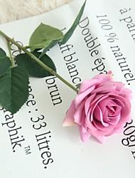 billige -Kunstige blomster 2 Gren Klassisk Singel Moderne Moderne Roser Bordblomst