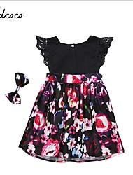 お買い得  -子供 女の子 カートゥン ドレス ブラック
