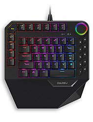 levne -dareu ek828 usb kabelová mechanická klávesnice jednoduchá herní mini velikost vícebarevná podsvícená 68 ks klíče