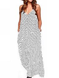 저렴한 -여자의 맥시 스윙 드레스 스트랩 블러싱 핑크 화이트 레드 스 밀리 xl