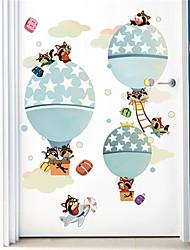 povoljno -crtani dječja soba vrući zrak balon samoljepljive pozadine spavaća soba noćna pozadina dekorativne zidne naljepnice vrtić besplatno naljepnice