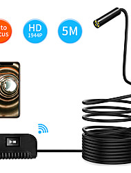 cheap -5M Length Auto Focus WiFi Inspection Camera IP68 Waterproof Endoscope 5MP CMOS Snake Camera for iPhone Samsung Andorid IOS