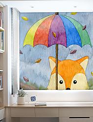 Недорогие -зонт лиса оконная пленка&усилитель; наклейки украшения 3d / современный геометрический пвх (поливинилхлорид) с антибликовым покрытием / наклейка окна