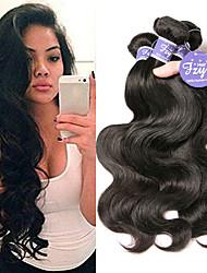 billige -3 Bundler Brasiliansk hår Krop Bølge 100% Remy Hair Weave Bundles Menneskehår, Bølget Udvidelse Bundle Hair 8-28 inch Naturlig Farve Menneskehår Vævninger Lugtfri Moderigtigt Design Hot Salg