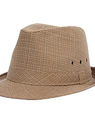 Χαμηλού Κόστους -Άχυρο Καπέλα / Τεμάχια Κεφαλής με Καρό 1 Τεμάχιο Καθημερινά Ρούχα / ΕΞΩΤΕΡΙΚΟΥ ΧΩΡΟΥ Headpiece