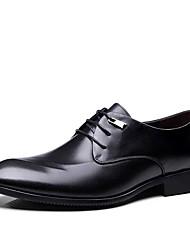hesapli -Erkek Ayakkabı Tüylü İlkbahar yaz İş Oxford Modeli Yürüyüş Ofis ve Kariyer için Siyah