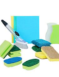 hesapli -Mutfak Temizlik malzemeleri mikrofiber Sünger polyester elyaf Temizleyici Basit Yeni Dizayn Araçlar 1set