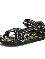 billige -Herre Komfort Sko Netting Sommer Sandaler Pustende Mørkeblå / Kakifarget / Mørkegrønn