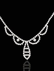 Χαμηλού Κόστους -Στρας / Κράμα Αλυσίδα κεφαλής με Τεχνητό διαμάντι / Αστραφτερό Γκλίτερ 1 Τεμάχιο Γάμου / Ειδική Περίσταση Headpiece