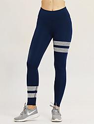 abordables -Femme Pantalon de yoga Noir Bleu Des sports Bloc de Couleur Collants Leggings Danse Course / Running Fitness Tenues de Sport Respirable Evacuation de l'humidité Butt Lift Contrôle du Ventre Haute
