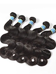 baratos -6 pacotes Cabelo Brasileiro Onda de Corpo Cabelo Natural Remy Peça para Cabeça Cabelo Humano Ondulado Cabelo Bundle 8-28 polegada Côr Natural Tramas de cabelo humano Macio Vestir fácil Melhor