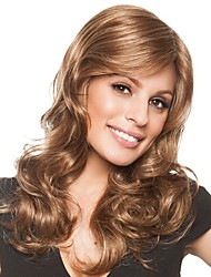 cheap -Synthetic Wig / Bangs Curly / Body Wave Style Side Part Capless Wig Golden Black / Gold Synthetic Hair 28 inch Women's Women / Synthetic / Sexy Lady Golden Wig Long Natural Wigs