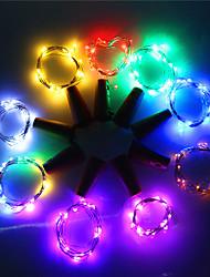 billige -1m Lysslynger 10 LED Varm hvit / RGB / Hvit Kreativ / Fest / Dekorativ Batterier drevet 1pc