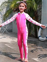 halpa -JIAAO Poikien Tyttöjen Skin-tyyppinen märkäpuku Sukelluspuvut Nopea kuivuminen Pitkähihainen Etuvetoketju - Uinti Sukellus Vesiurheilu Patchwork Syksy Kevät Kesä / Erittäin elastinen / Lasten