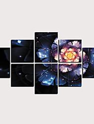 billige -Trykk Valset lerretskunst - Abstrakt Blomstret / Botanisk Klassisk Moderne