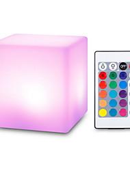Недорогие -USB перезаряжаемый светодиодный куб в форме ночника с дистанционным управлением для спальни праздничные украшения для дома новизна подарков
