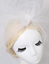 رخيصةأون -الأورجانزا / صاف قطع زينة الرأس / غطاء للرأس / إكسسوار للشعر مع شبكة 1 قطعة زفاف / مناسبة خاصة / عيد ميلاد خوذة