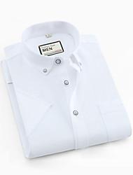 abordables -Hombre Camisa Un Color Blanco XXL