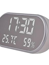 Недорогие -Новинка многофункциональный светодиодный термометр высокой четкости и зеркало гигрометр будильник белый свет подарок для детей