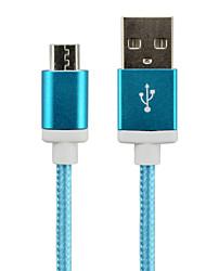 levne -Micro USB Adaptér kabelu USB Pletený Kabel Pro Samsung / LG / Nokia 150 cm Pro Nylon