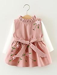 זול -שמלה ללא שרוולים / שרוול ארוך סרוג בנות פעוטות
